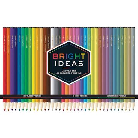 Bright Ideas Deluxe Colored Pencils Tin