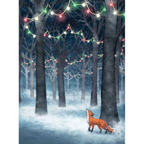 Lights in the Forest Holiday Cards