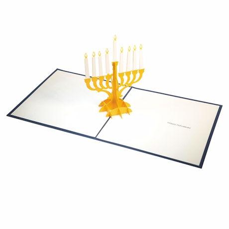 Pop-Up Menorah Hanukkah Card