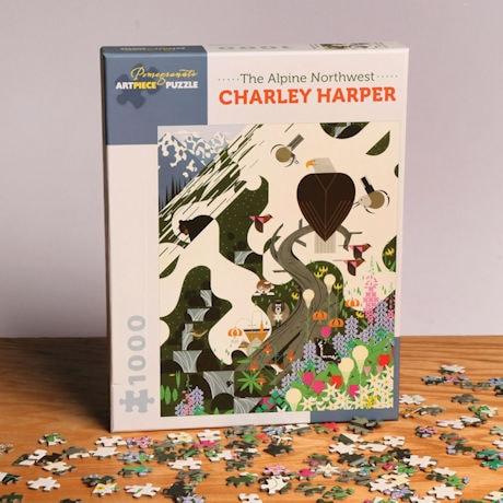 """Charley Harper's """"The Alpine Northwest"""" Puzzle"""