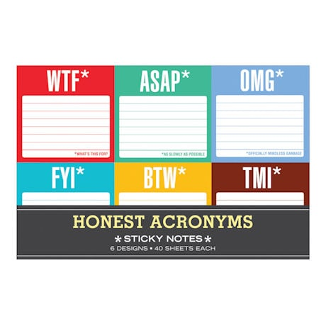Honest Acronyms Sticky Notes