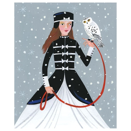 Lady with Snowy Owl Cards