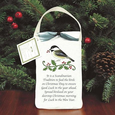 Holiday Bird Seed Gift Bag