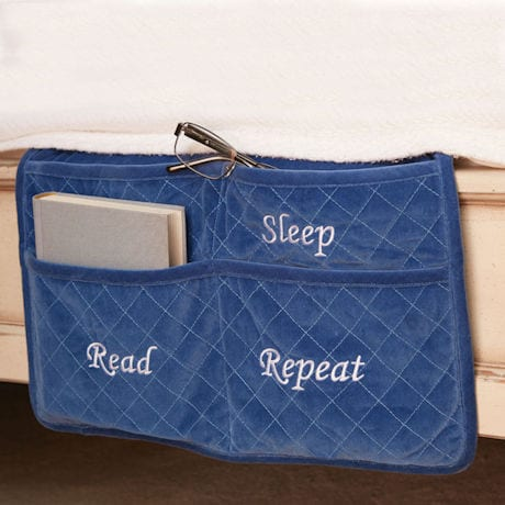 """Eat Sleep Read Repeat"" Bed Caddy"