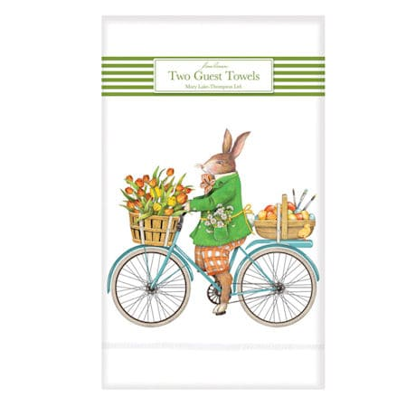 Bunny Bicycle Guest Towels