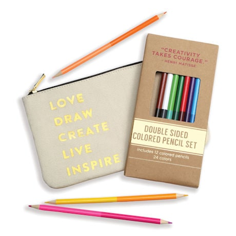 Colored Pencils in Pouch