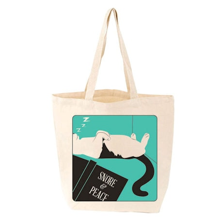 <i>Snore and Peace</i> Tote