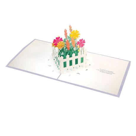 Flower Fence Pop-Up Greeting Card