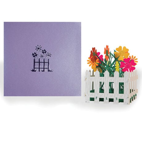 Flower Fence Pop-Up Card