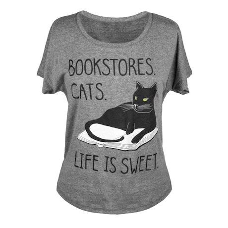 Bookstore Cats T-Shirt