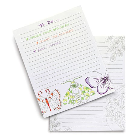 Flora and Fauna Coloring Pads - Set of two