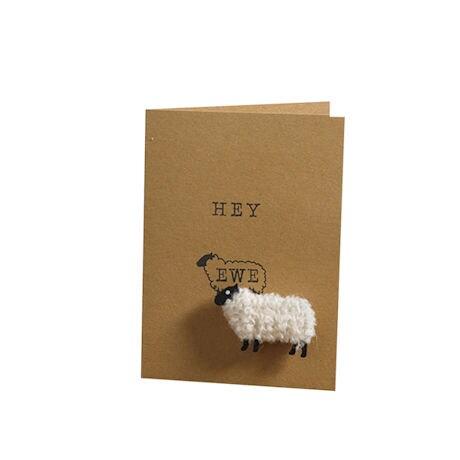 Woolly Ewe Magnet Cards: Hey Ewe