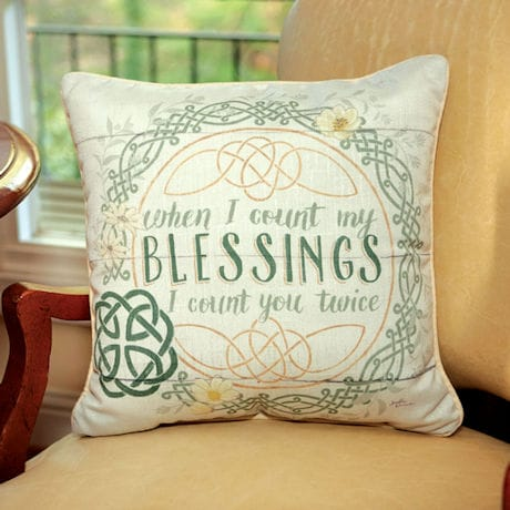 Celtic Blessings Pillow