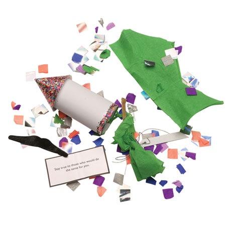 Confetti Rocket Poppers - Set of six