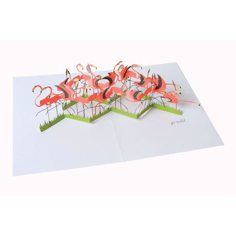 Flamingo Pop-Up Greeting Card