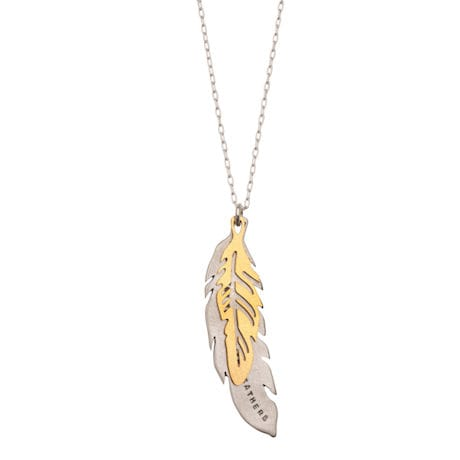 Hope is the Thing with Feathers Necklace