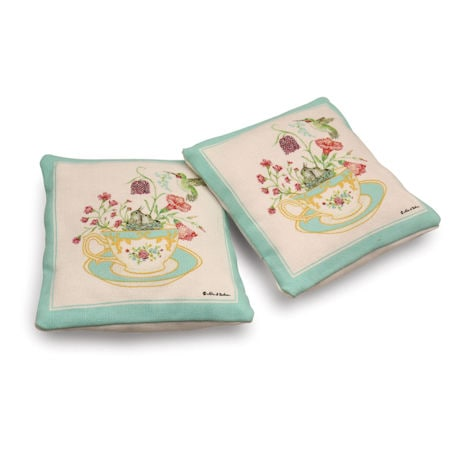 Hummingbird and Teacup Lavender Sachets
