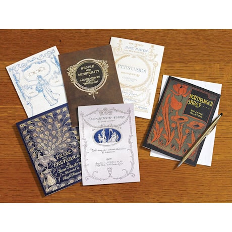 Jane Austen Vintage Book Covers Note Cards
