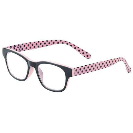 Pink Polka-Dotted Readers
