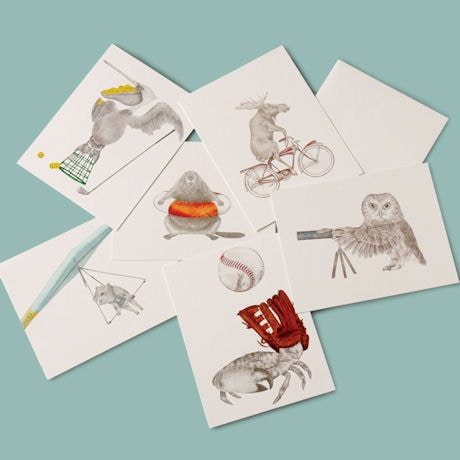 Summer Fun Animal Cards