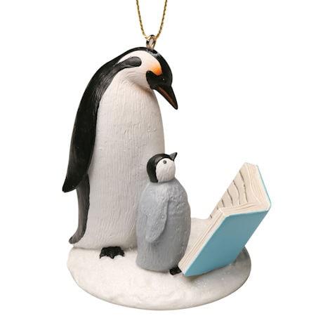Reading Penguins Ornament
