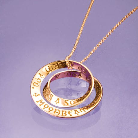 14k-Gold Irish Blessing Double Möbius Necklace