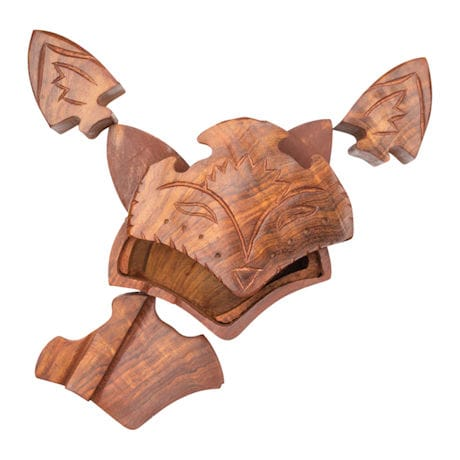 Fox Wooden Puzzle Box
