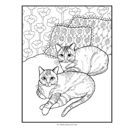 Mimi Vang Olsen Cats Coloring Book