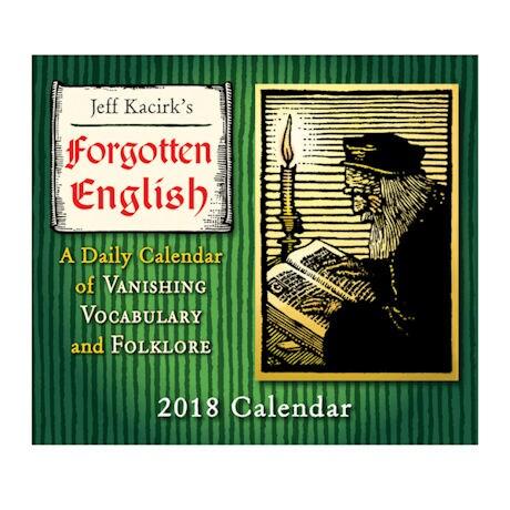 2018 Forgotten English Daily Calendar