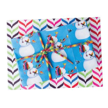 Birdies and Snowman Gift Wrap
