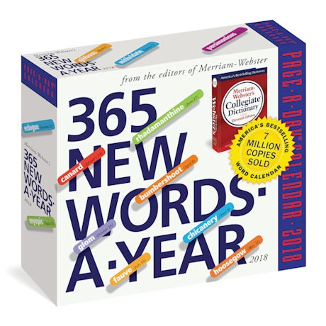 2018 365 New Words-a-Year Page-a-Day Calendar