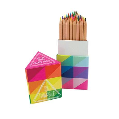 36 Colored Pencils Triangle