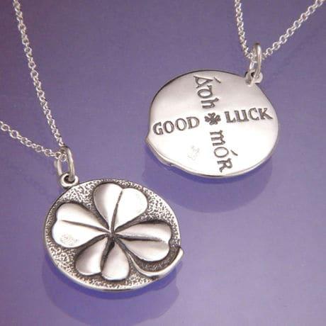 Sterling Silver Four-Leaf Clover Necklace