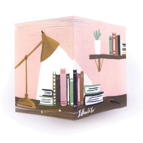 Reader's Desk Sticky Note Cube