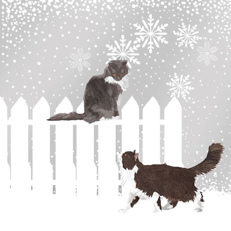 Snowfall Cats Napkins - Set of 2
