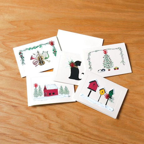 Tatted Lace Christmas Cards