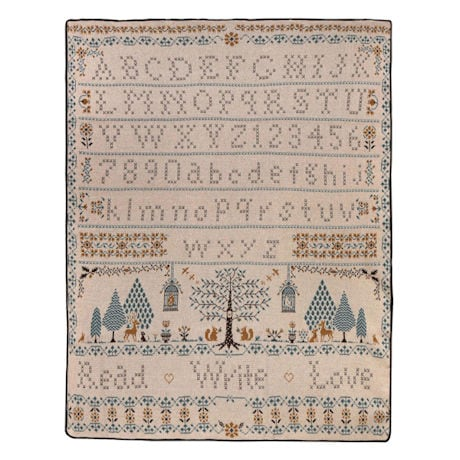 Vintage Sampler Throw