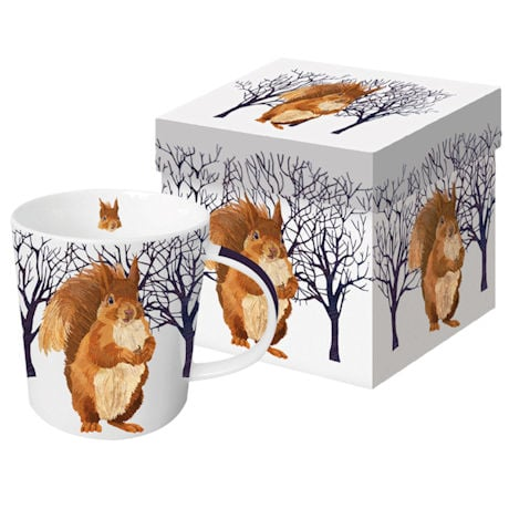 Winter Wildlife Mugs: Winter Squirrel