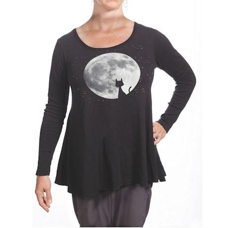 Moon Cat Long-Sleeved Tunic