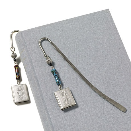 Book Locket Bookmark (Aqua)