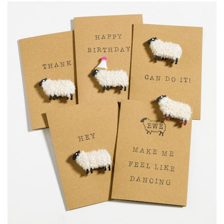 Woolly Ewe Magnet Cards: Ewe Make Me Feel Like Dancing