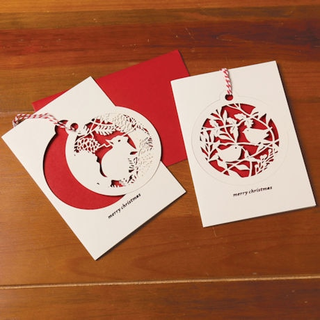 Laser-Cut Ornament Cards