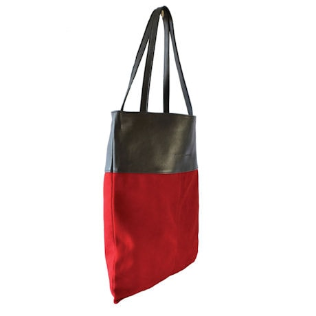 Luxe Book Bag: Red