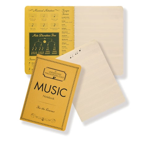 Musical Notes Sticky Notes and Composition Notebook