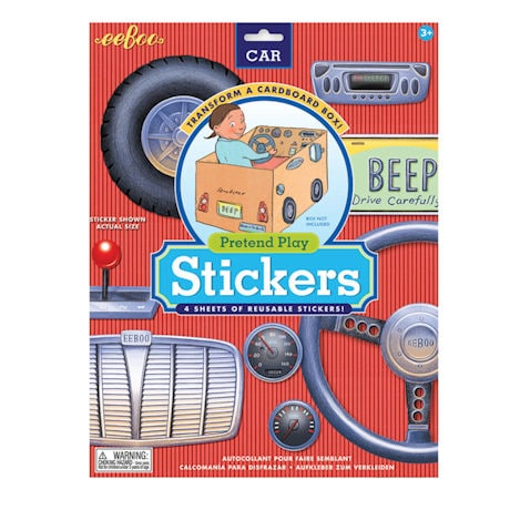 Pretend Play Car Stickers
