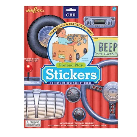 Pretend Play Car Stickers