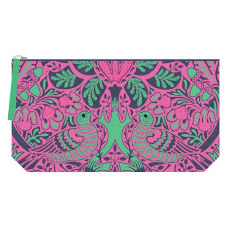 William Morris Embroidered Pouch: Dove and Rose