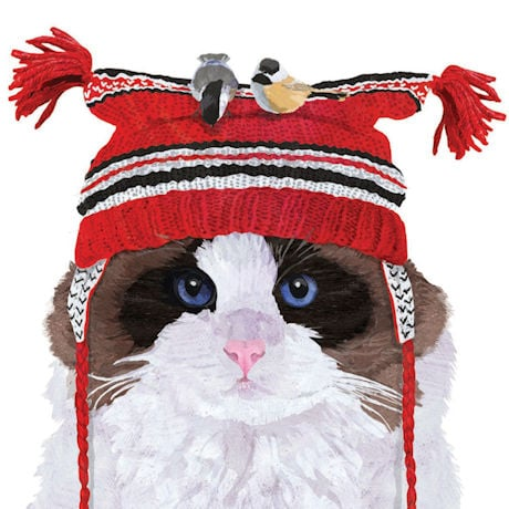 Winter Hat Cat Napkins (set 2)