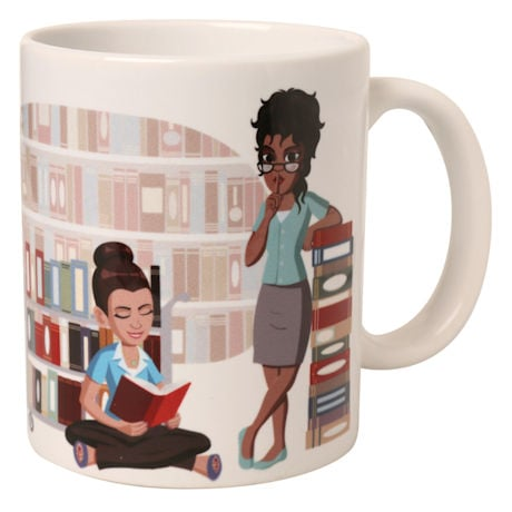 Intellectual Collective Noun Mugs: A Shush of Librarians