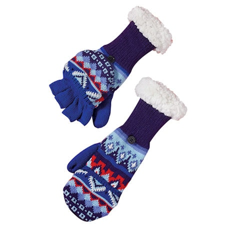 Nordic Blue Mittens